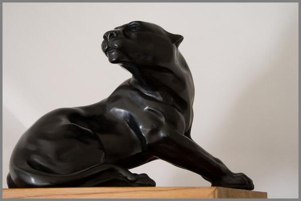 Statue Panthère Noire : art deco sculpture panthere noire assise numerotee ebay ~ Teatrodelosmanantiales.com Idées de Décoration